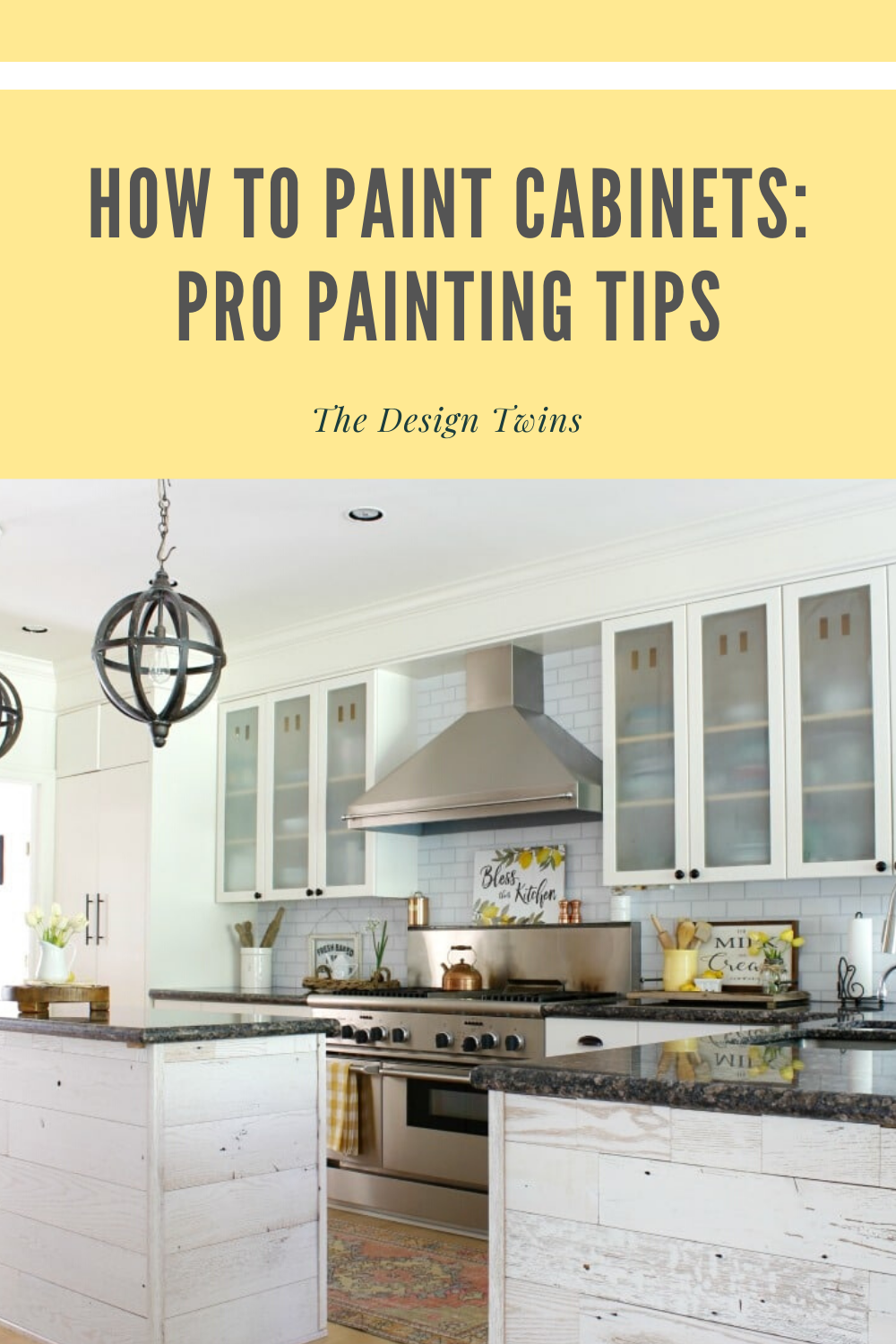 How To Paint Cabinets Pro Painting Tips The Design Twins In 2020 Paint Kitchen Cabinets Like A Pro Home Goods Decor Painting Kitchen Cabinets