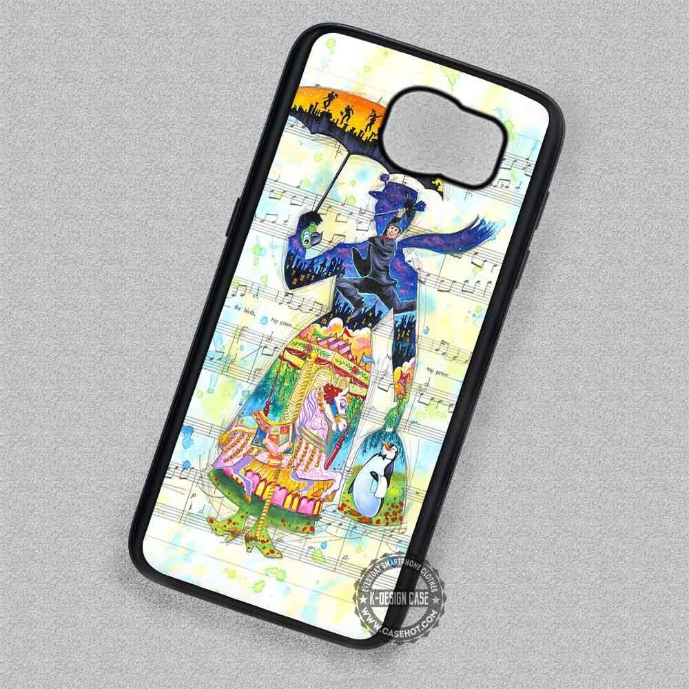 Art Musical Note Mary Poppins England - Samsung Galaxy S7 S6 S5 Note 4 Cases & Covers