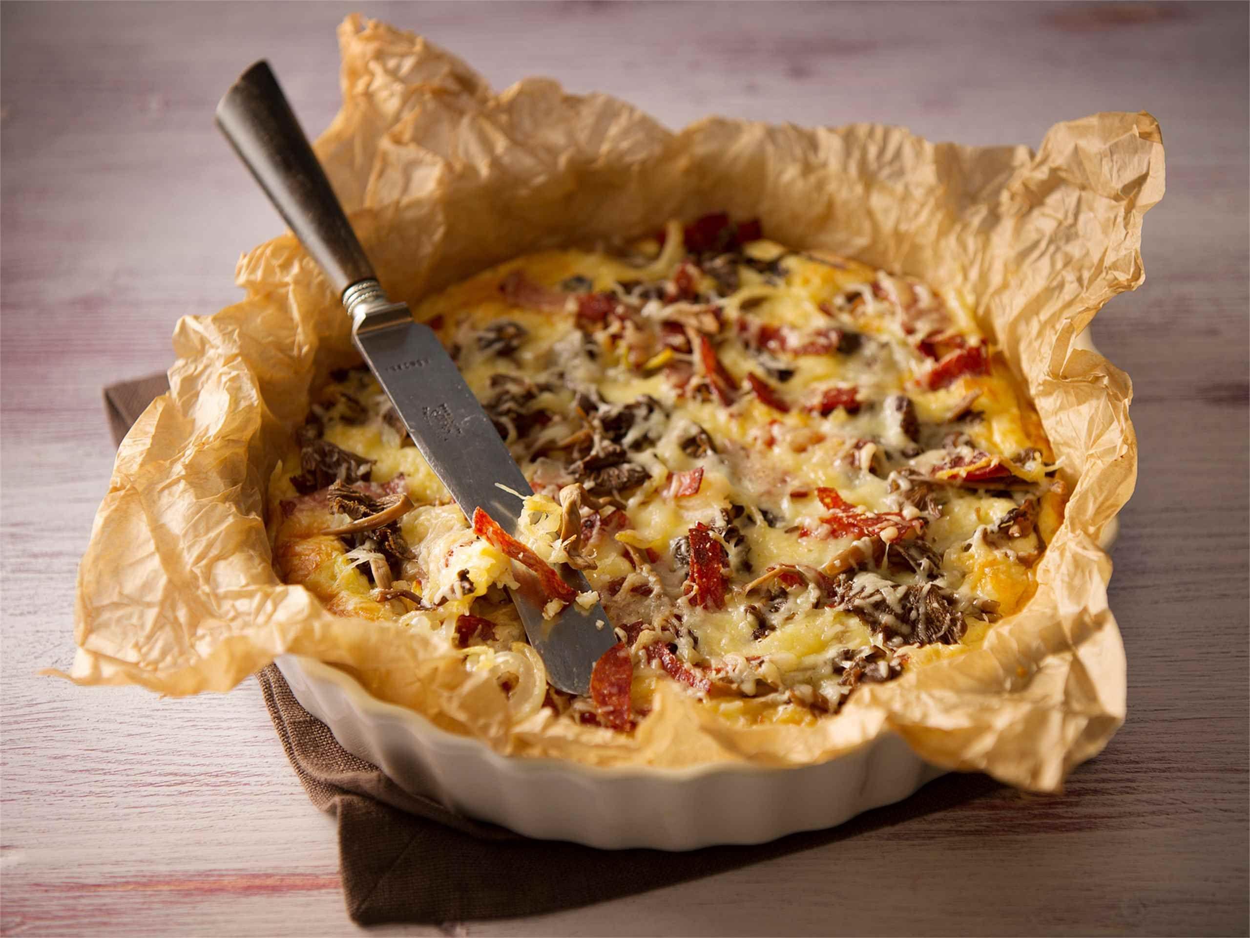 Sienipannaripiiras Pizza, pannari vai piirakka? Niistä syntyi idea pannaripiiraaseen. Valmista maukas pannari piirakkavuokaan ja päällystä sienitäytteellä. http://www.valio.fi/reseptit/sienipannaripiiras/ #valio #resepti #ruoka #recipe #food