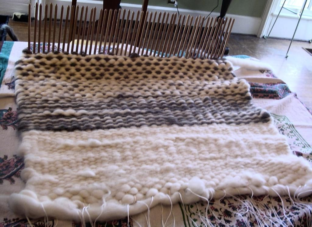 Living With Jane Peg Loom The First Rug