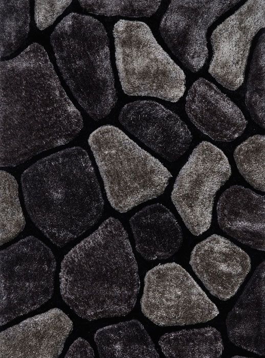 Le House Nh 5858 Black Grey Rugs From 99 Free Uk