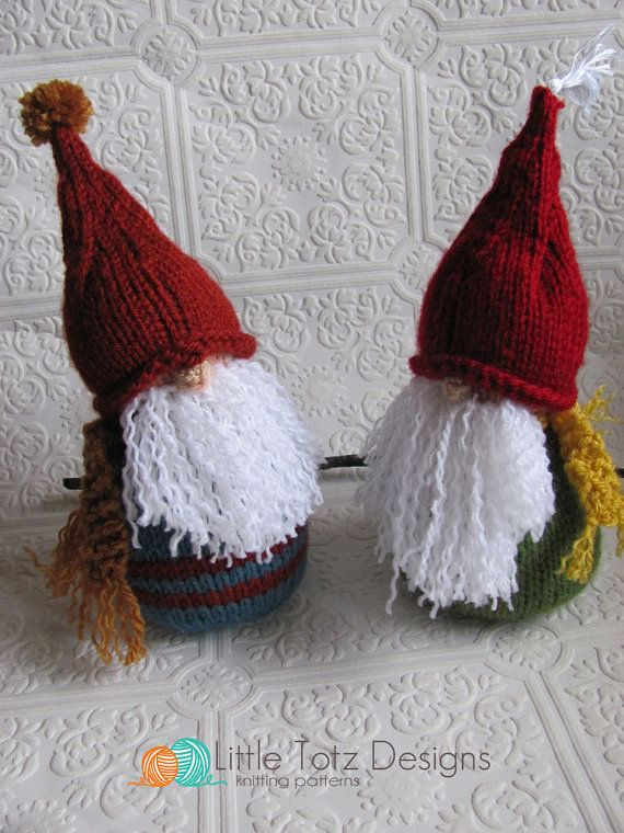 Gnome   Knitting Pattern by LittleTotzDesigns on Etsy, If only I could knit!