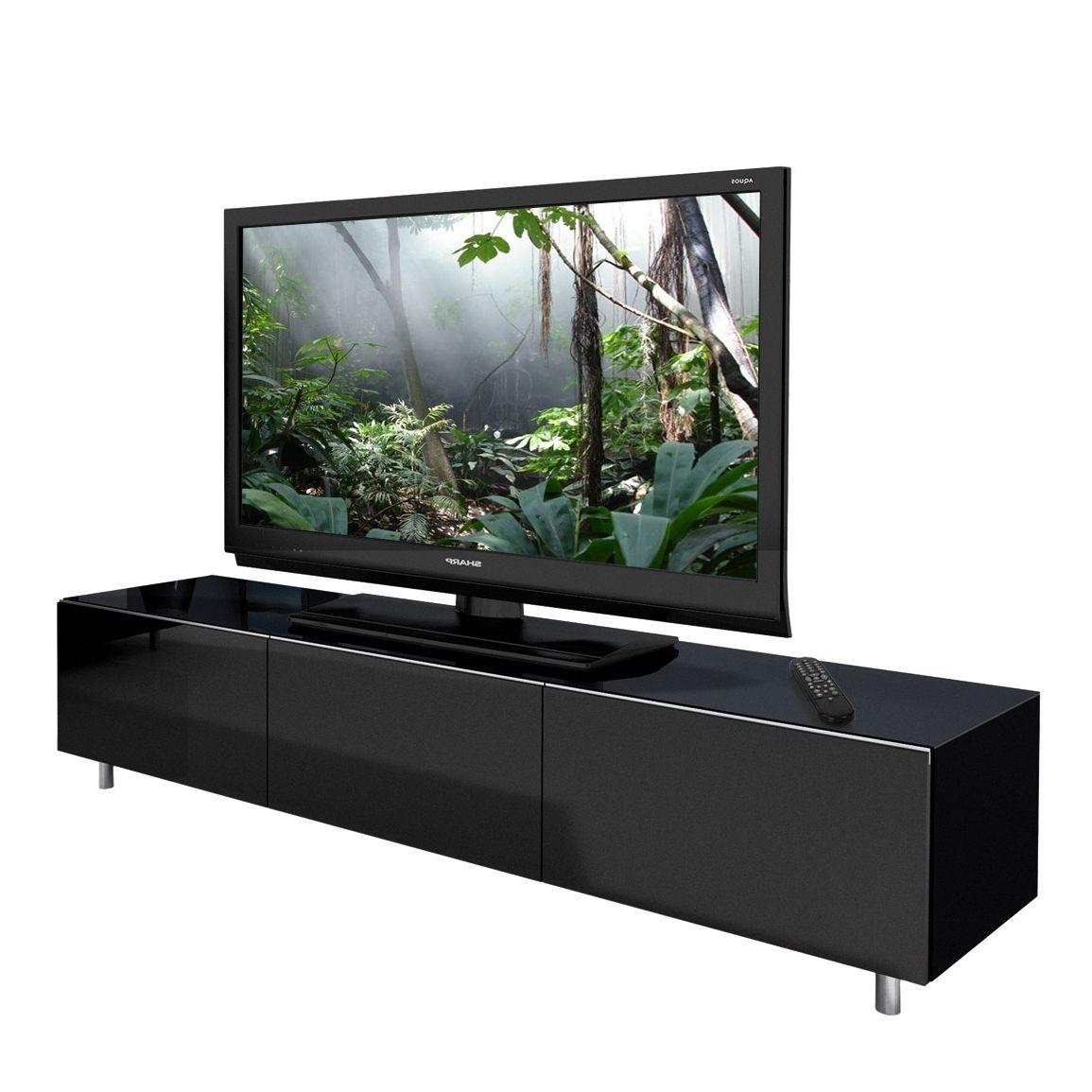 Long Black Gloss Tv Unit | Tv stand wood, Tv stand, Black tv cabinet