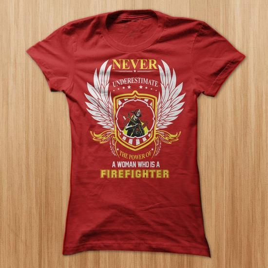 The power of a WOMEN who is FIREFIGHTER T Shirts, Hoodies. Check Price ==► https://www.sunfrog.com/LifeStyle/The-power-of-a-WOMEN-who-is-FIREFIGHTER.html?41382