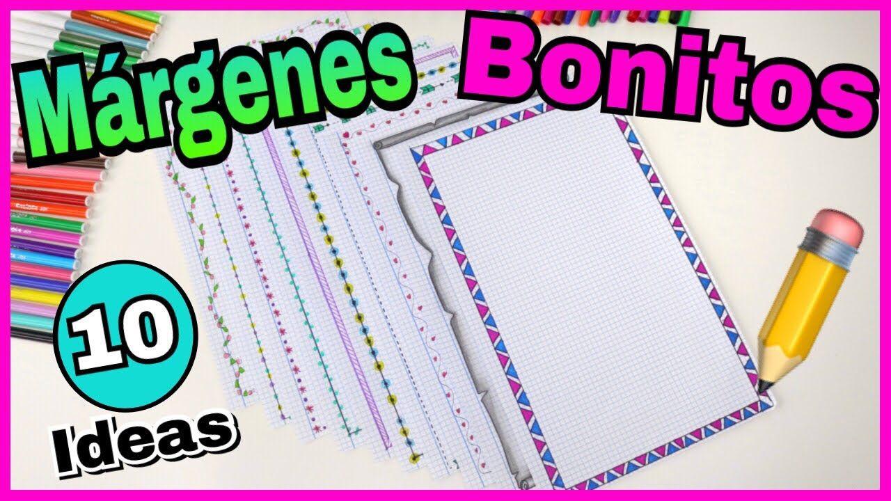 Ideas De MÁrgenes Para Decorar Cuadernos Y Libretas: Bordes Y Recuadros Muy Bonitos
