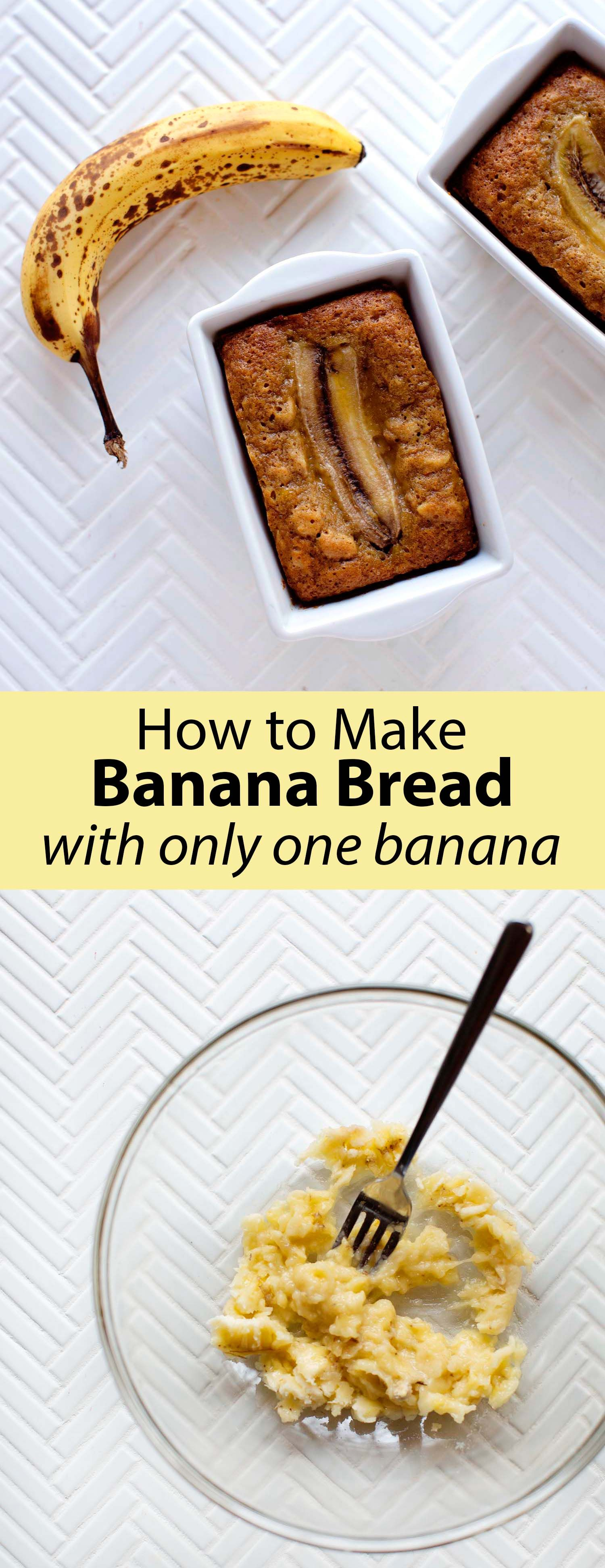 One Banana - Banana Bread - A Beautiful Mess #bananabread