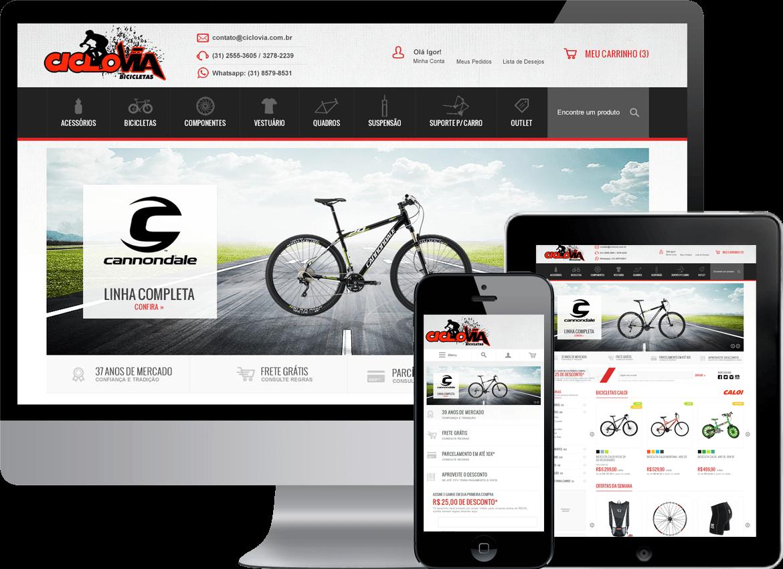 Loja Virtual Magento com layout #responsivo desenvolvida para a empresa Ciclovia Bicicletas que está no mercado desde 1976, oferecendo uma infinidade e variedade de produtos, das melhores e mais desejadas marcas e #acessórios para #bicicletas.  #DesenvolvedorMagento #ProgramadorMagento #LojaVirtualMagento #Ecommerce