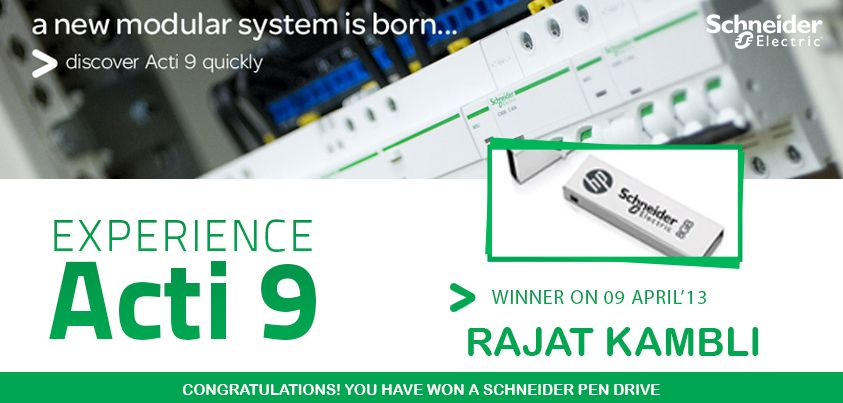 Congratulations Rajat Kambli On Being The Lucky Winner In Our