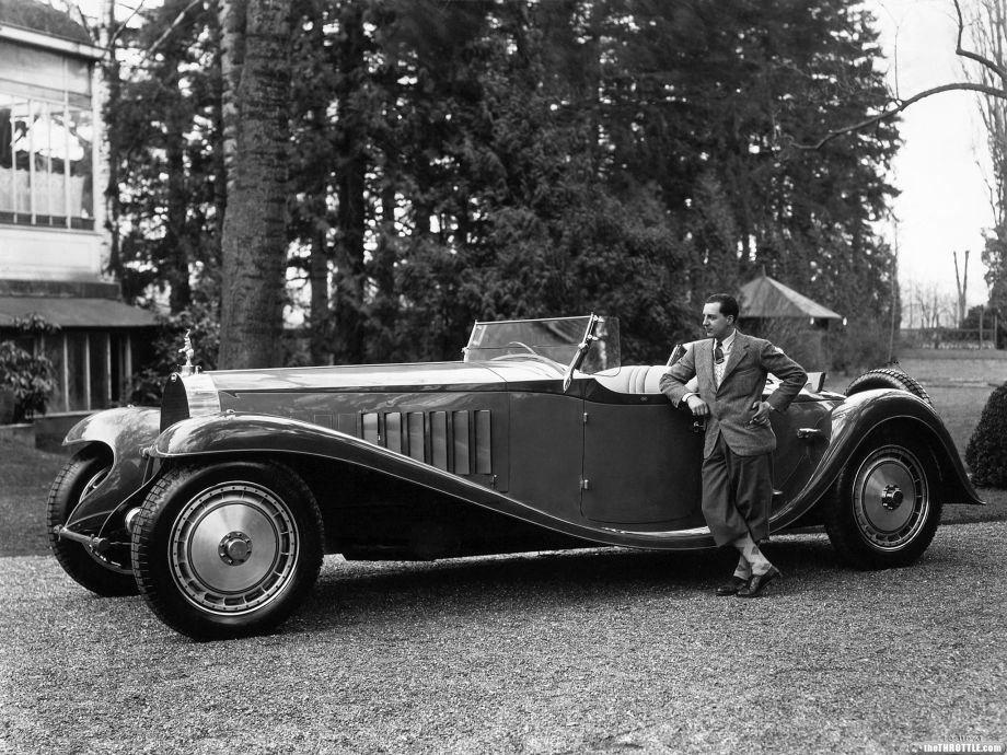 ❦ 1927-1932? Bugatti Royale Type 41 12.7 straight 8 engine.