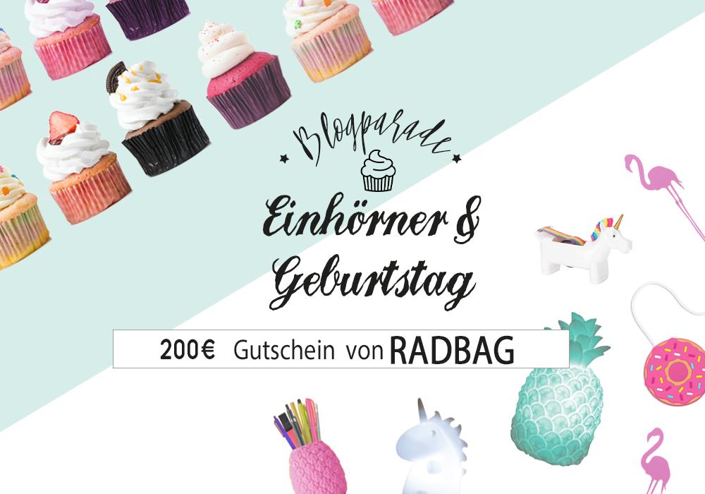Du hast deinen eigenen Blog und liebst Einhörner und Geburtstage genauso wie wir? Dann sei dabei bei unserer Blogparade!  Alle nötigen Details findest du hier: https://www.radbag.de/blog/blogparade-einhoerner-und-geburtstag  #unicorns #blogparade #birthday #diy #printable #cupcakes #radbag