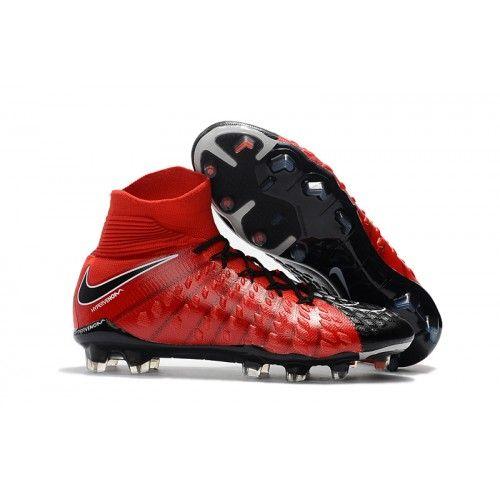 the best attitude e0a25 a4126 Nike Futbol Hypervenom Phantom III DF FG Rojas Negras Blancas