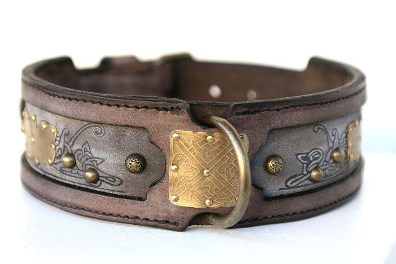 Kairos Leather Dog Collar Leather Dog Collars Medium Sized