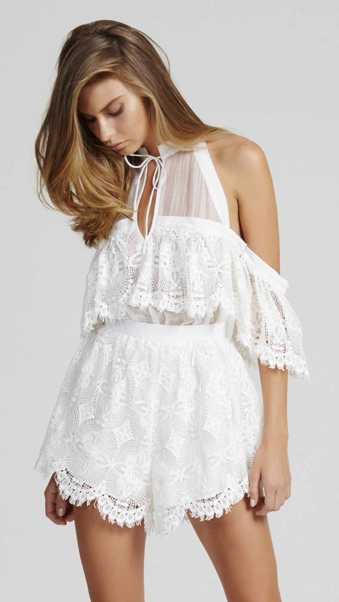 59981eb332 alice McCALL Better Be Good To Me Playsuit Romper Seashell White ...