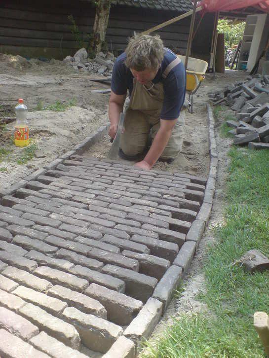Side Stone Brick Pathway Project Idea: Landscaping & Garden Design Projects DIY Project Idea | Project Difficulty: Medium | Maritime Vintage.com