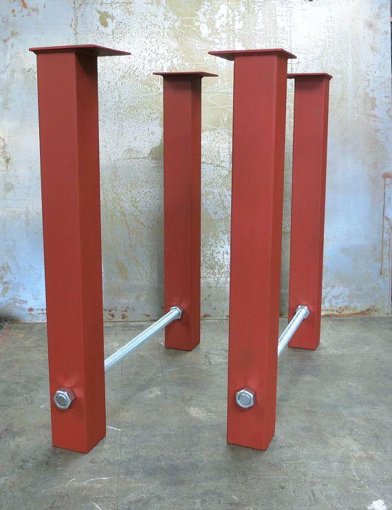Steel Table Legs Threaded Rod Etsy Steel Table Steel Table Legs Table Legs