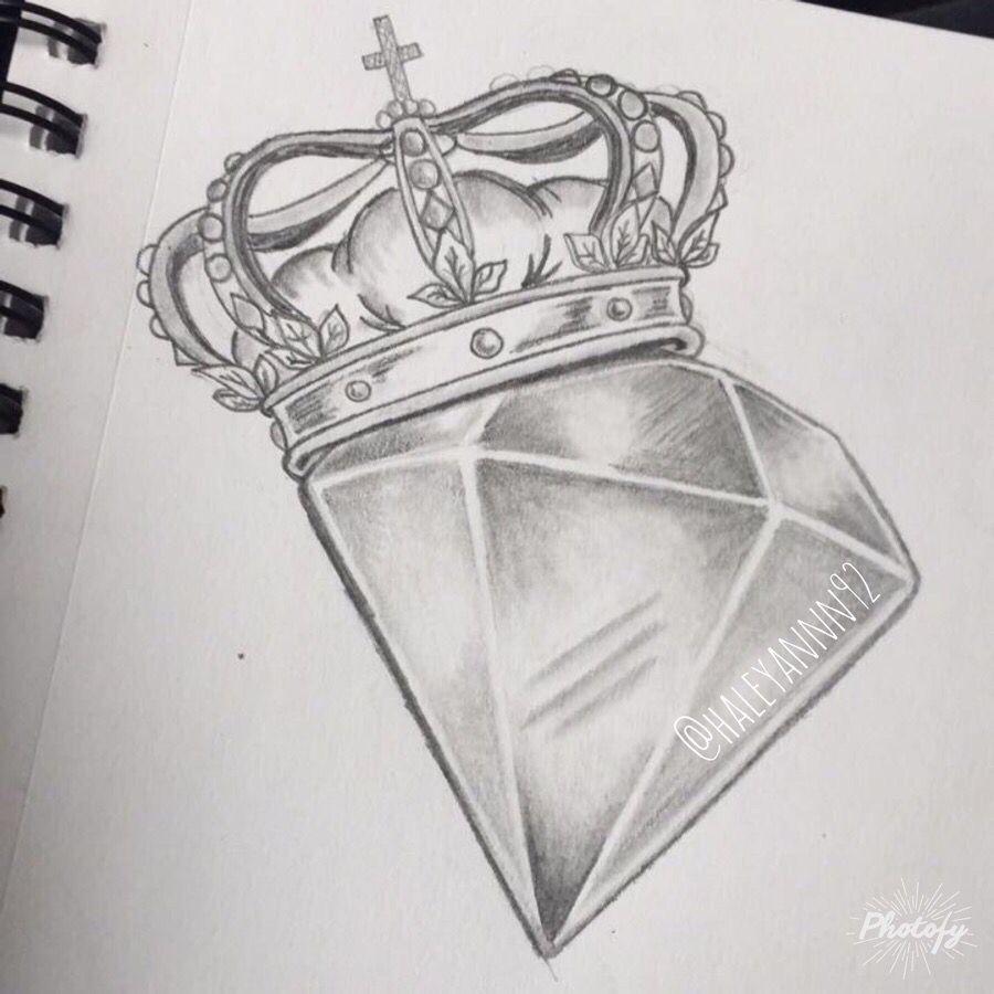 Diamond and crown sketch #art | Tattoos/Art/Piercing in ...