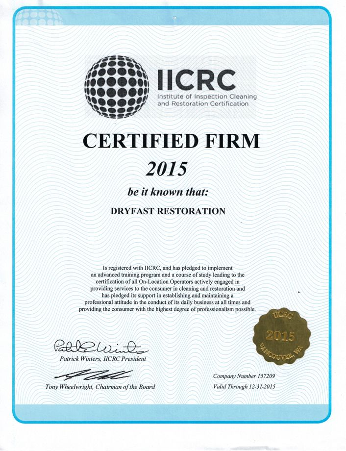 Iicrc Institude Of Inspection Cleaning And Restoration