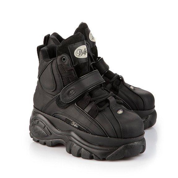 1ada388237a New Buffalo Classic Boots 1348-14 BLACK Platform Shoes   Trainers Sizes UK  3-8  Amazon.co.uk  Shoes   Bags