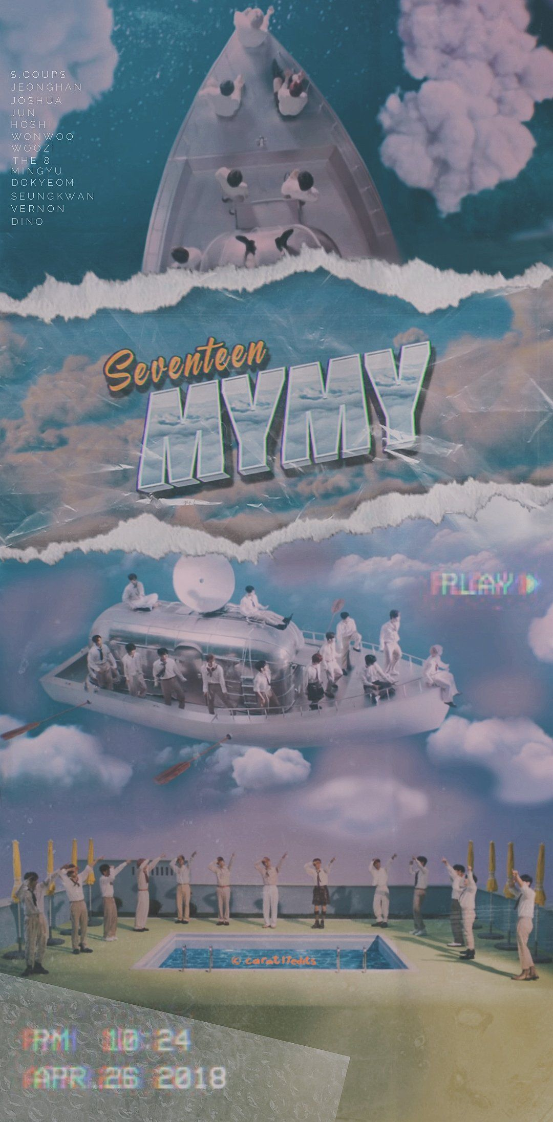 「セブンティーン 『マイマイ』壁紙#SEVENTEEN #MYMY #HENGGARAE #SEVENTEEN_MyMy」