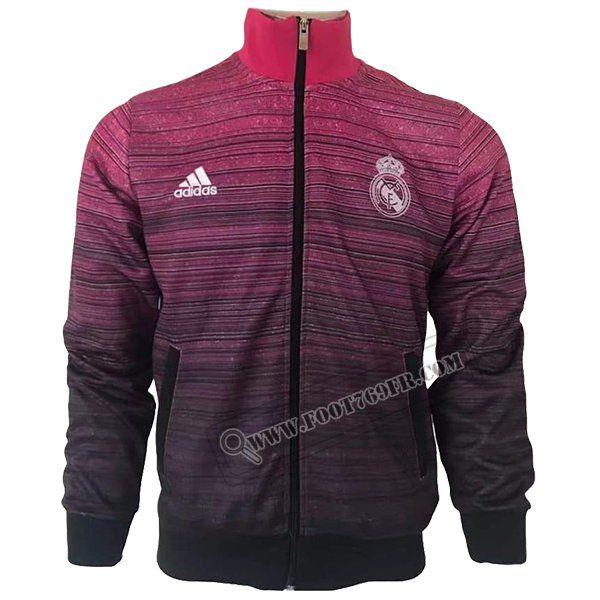 Veste Adidas Real Madrid rose Homme Football Jacket Vintage