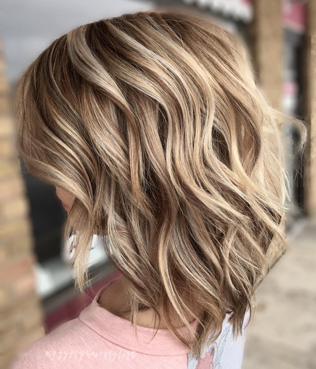 Buttered Blonde Dimensional Blonde Balayage Medium Length Hair Styles Blonde Highlights Short Hair Highlights Medium Length Hair Styles Medium Hair Styles