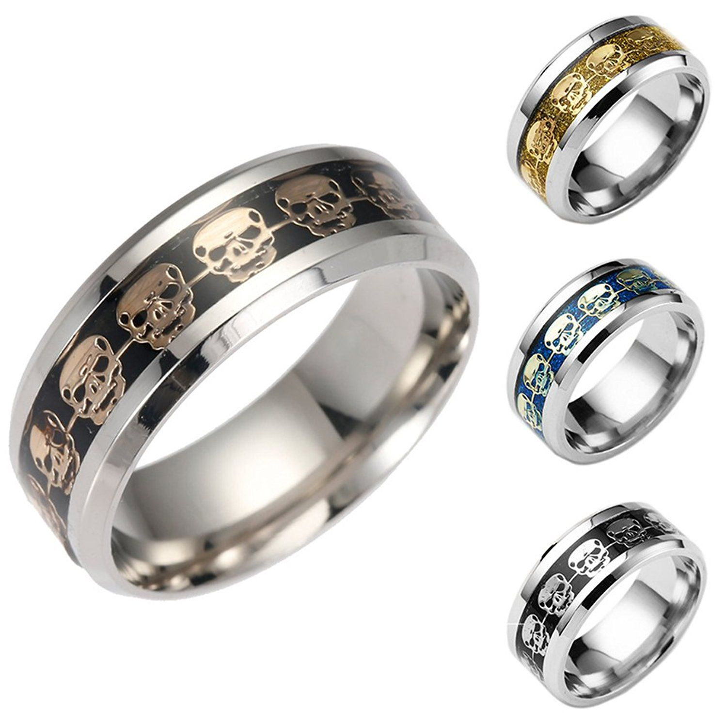 Rosemes 8mm Titanium Wedding Band for Men with