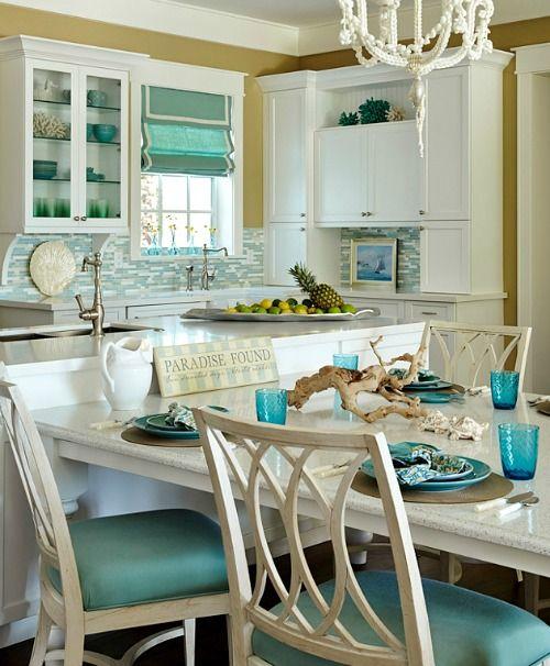 Shiny Quartz Kitchen Counter Top Beach Theme Kitchen Beach