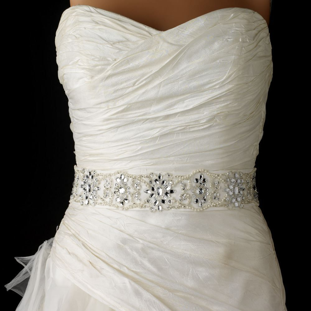 Pearl belt for wedding dress  Elaborate Pearl and Rhinestone Beaded Wedding Belt Sash  Pearls