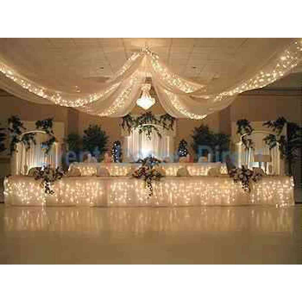 Wedding decorations tulle and lights  Starlight Lighting Kit for  Panel Ceiling Draping Kit   strands