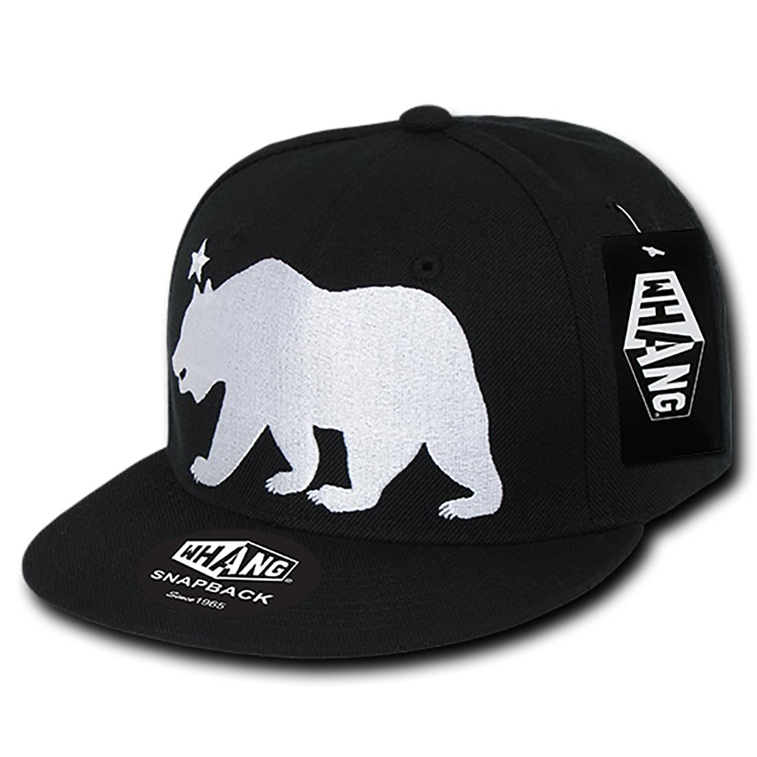 New California Republic Snapback Hat Monster Cali Bear Black Gorra