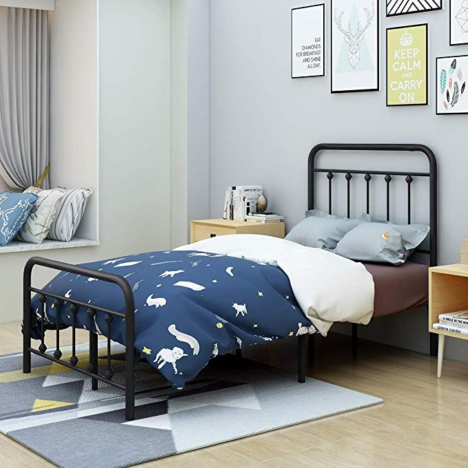 AUFANK Twin Size Bed Frame Metal Platform