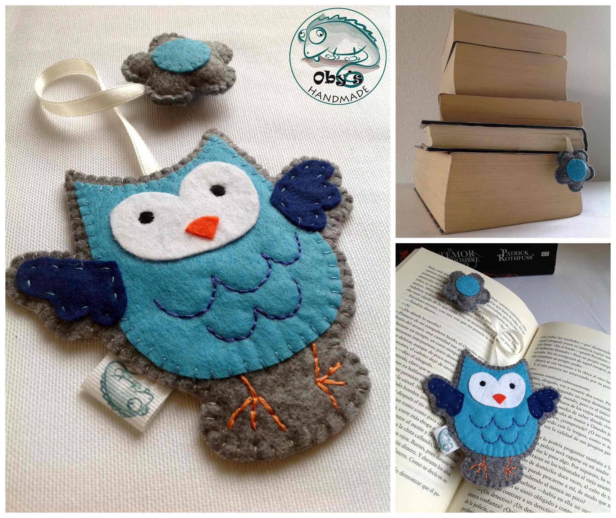 Obys handmade idea regalo segnalibro in feltro con gufo bookmark with felt owl hand stitched bankloansurffo Gallery