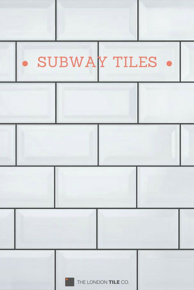 Match White Bevelled Brick Tiles With Dark Grey Grout To Create The Industrial Subw White Brick Tiles Kitchen White Brick Tiles Grey Grout Brick Tiles Bathroom