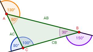 La Suma Del ángulo Exterior Y El Interior De Un Triángulo Es 180 Grados Geometría Plana Geometría Triangulos