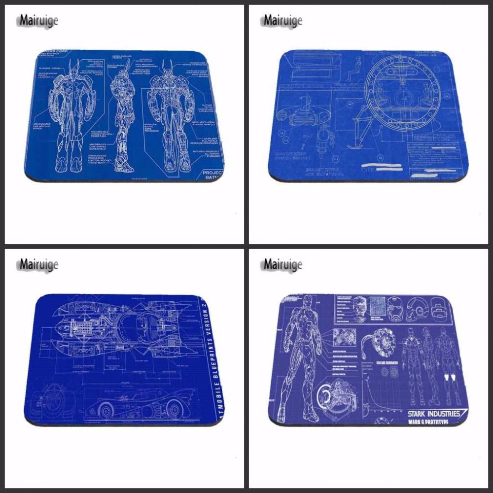 Iron man blueprint rubber funny high quality anti slip new fashion iron man blueprint rubber funny high quality anti slip new fashion mouse pad for laptop computer tablet pc decorate your desk affiliate malvernweather Choice Image