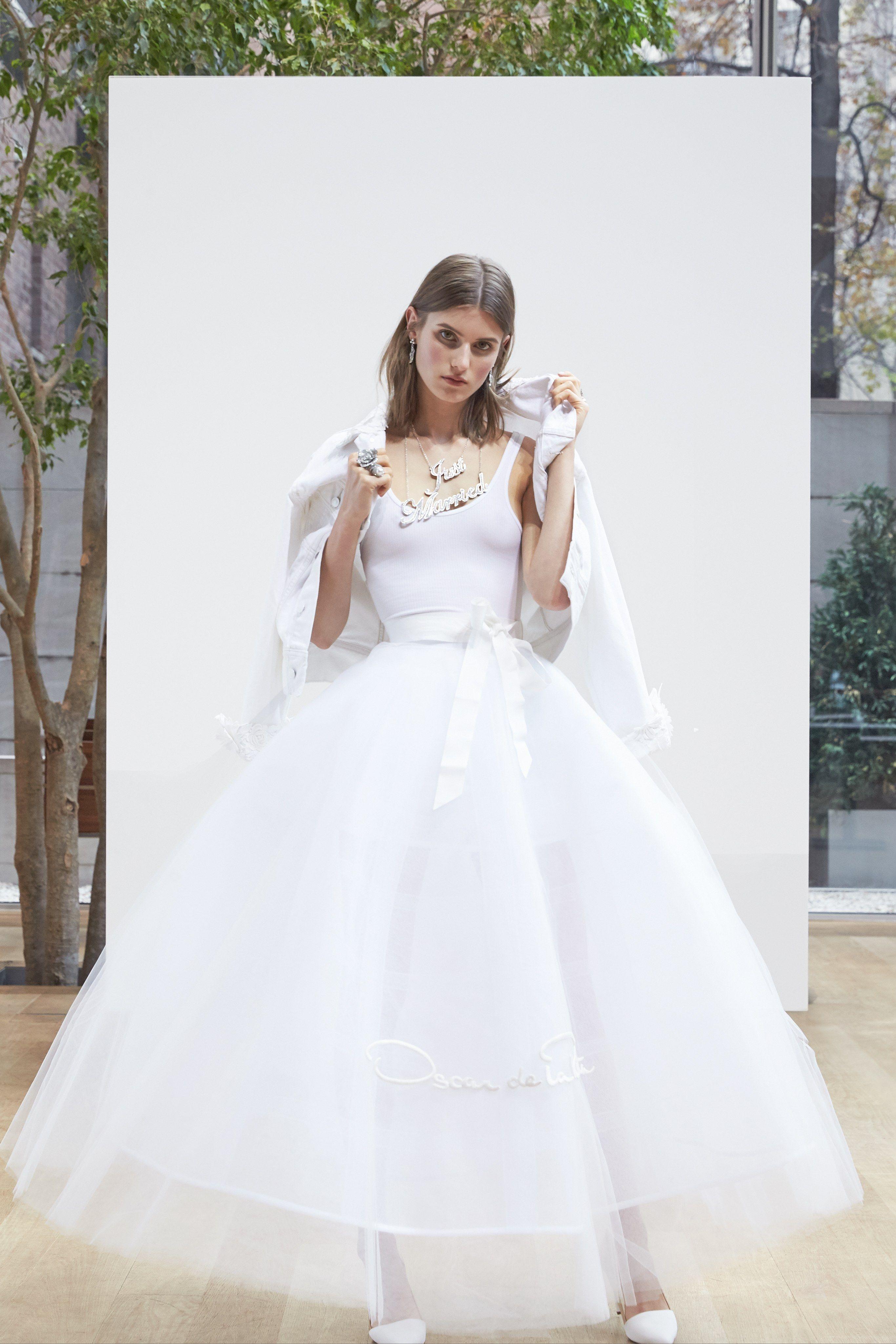 Oscar De La Renta Bridal Wedding Dress Collection Spring 2018 Brides: Wedding Dresses With Denim At Websimilar.org