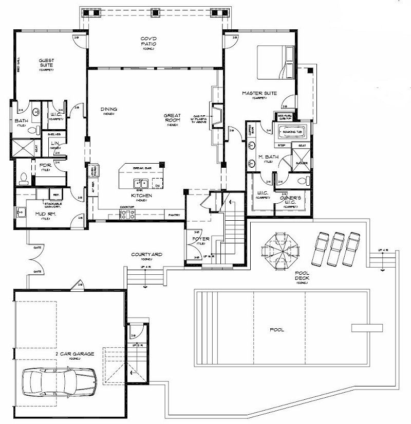 lake house floor plans Lazy Creek Lake House - New Lake Chelan