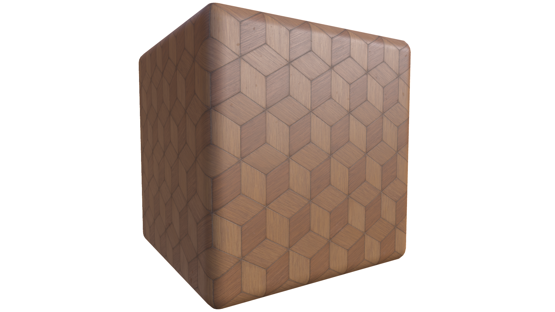 Diamond Wood Floor Tiles PBR Texture from