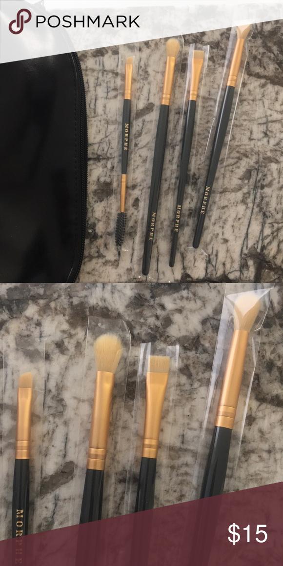 Brand new Morphe eye brush set with case Morphe eye