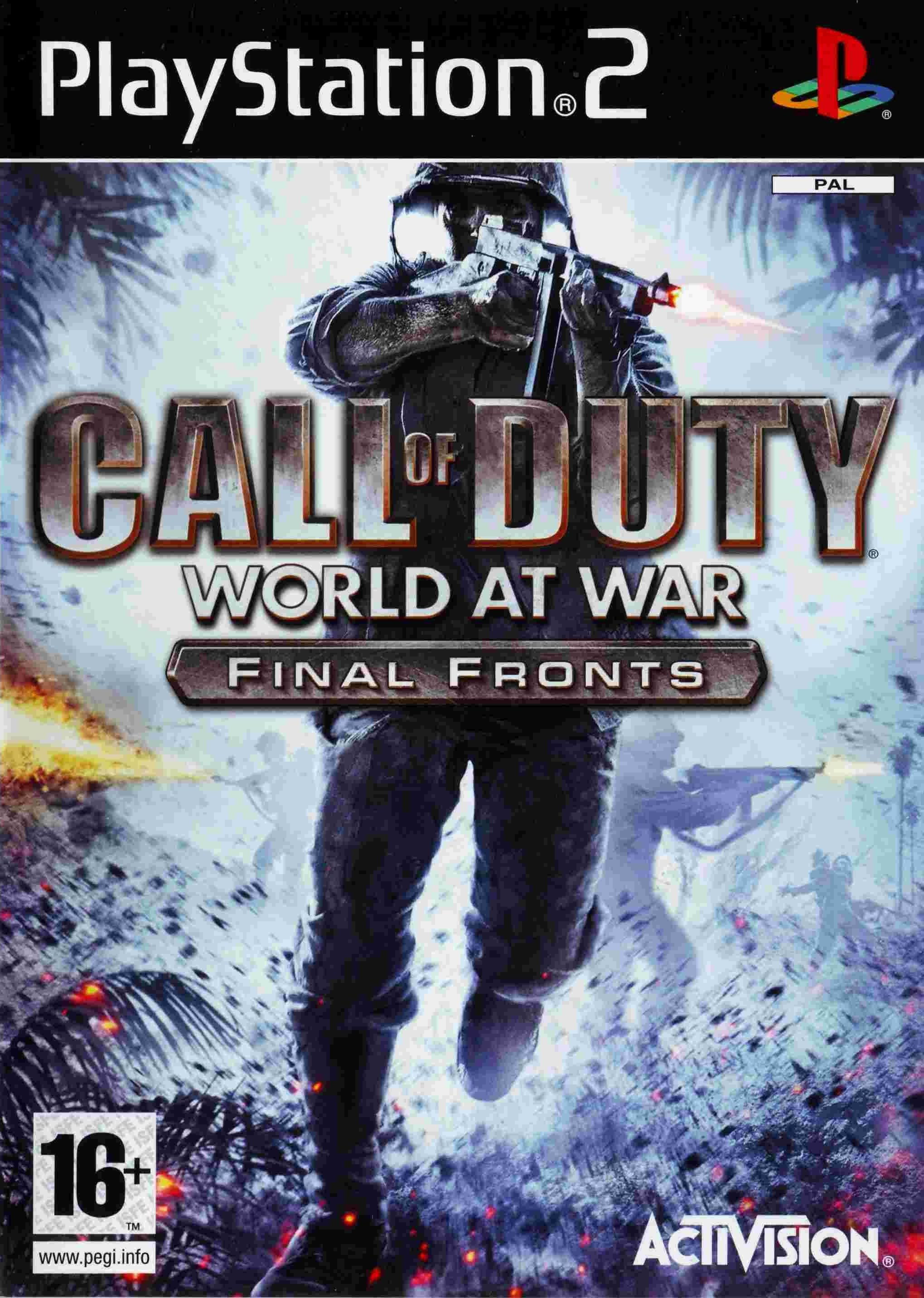Call Of Duty World At War Final Fronts Jogos Pc Jogos De Playstation Jogos Ps2