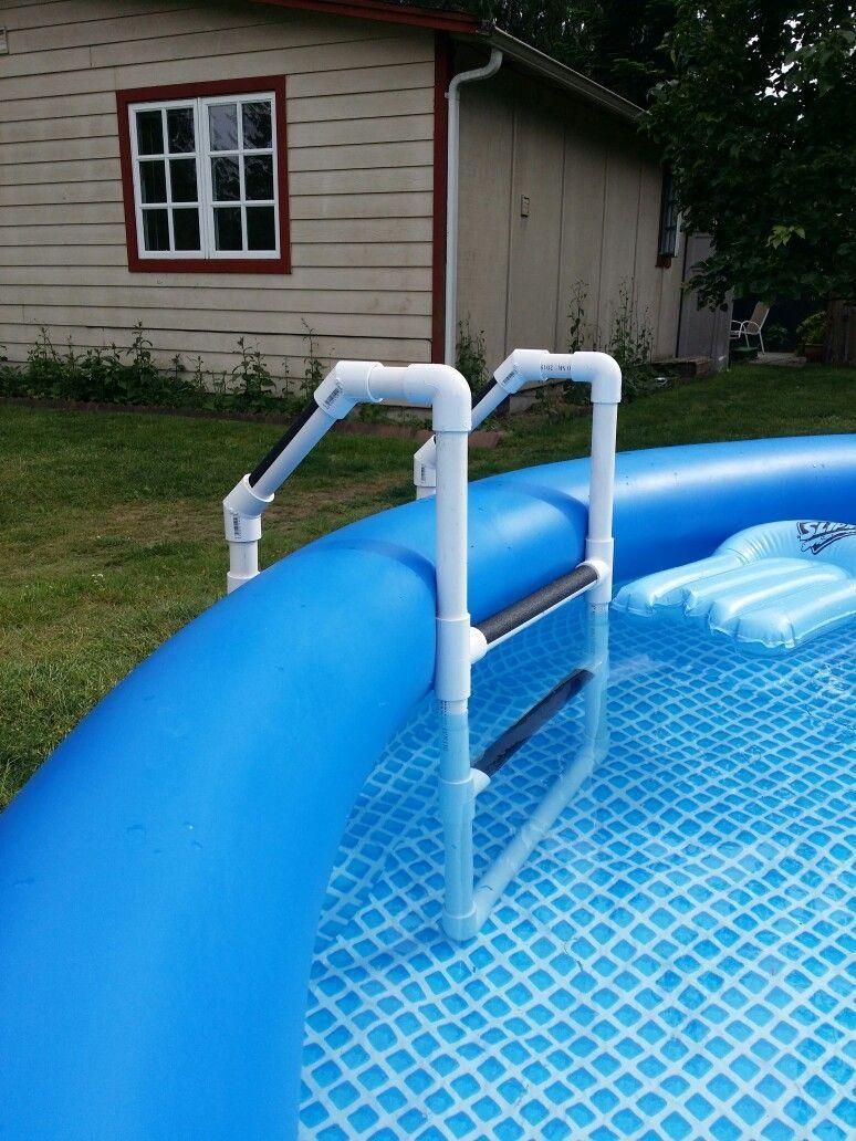 Pvc Pool Ladder Diy Projects Pinterest Pvc Pool Backyard And Yards