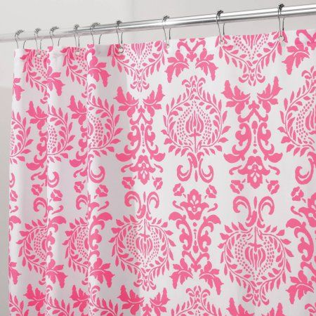 Home In 2020 Fabric Shower Curtains Pink Shower Curtains Pink
