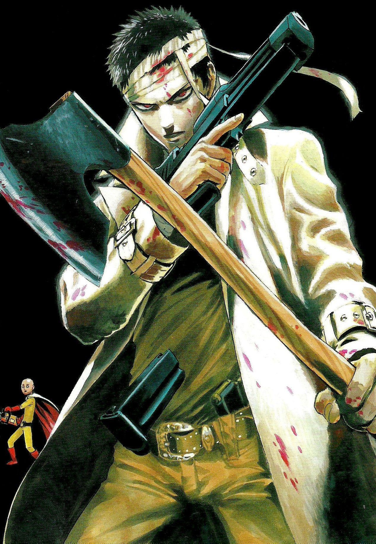 One Punch Man Zombie Man Arte mangá, Anime luta, Manga