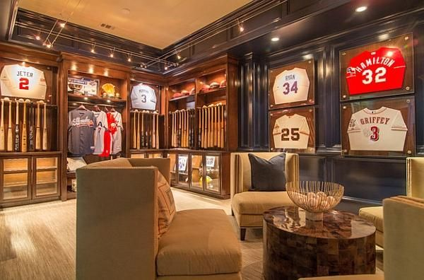 How To Make A Sports Themed Man Cave Look Classy Man Cave