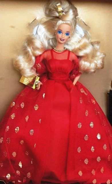 1991 Limited Edition Evening Flame Barbie 1865 Christmas Holidays