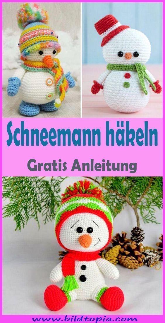 Photo of Häkeln Schneemann – Kostenlose & einfache DIY Anleitung – Häkeln – Anleitung … – S ……