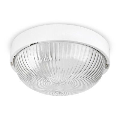 Ip44 modern #gloss #white round flush bathroom ceiling / bulkhead - badezimmer led deckenleuchte ip44