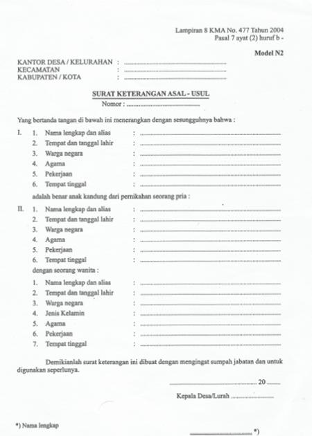 Cara Mengurus Surat Pengantar Nikah (Pindah Nikah) | Surat ...