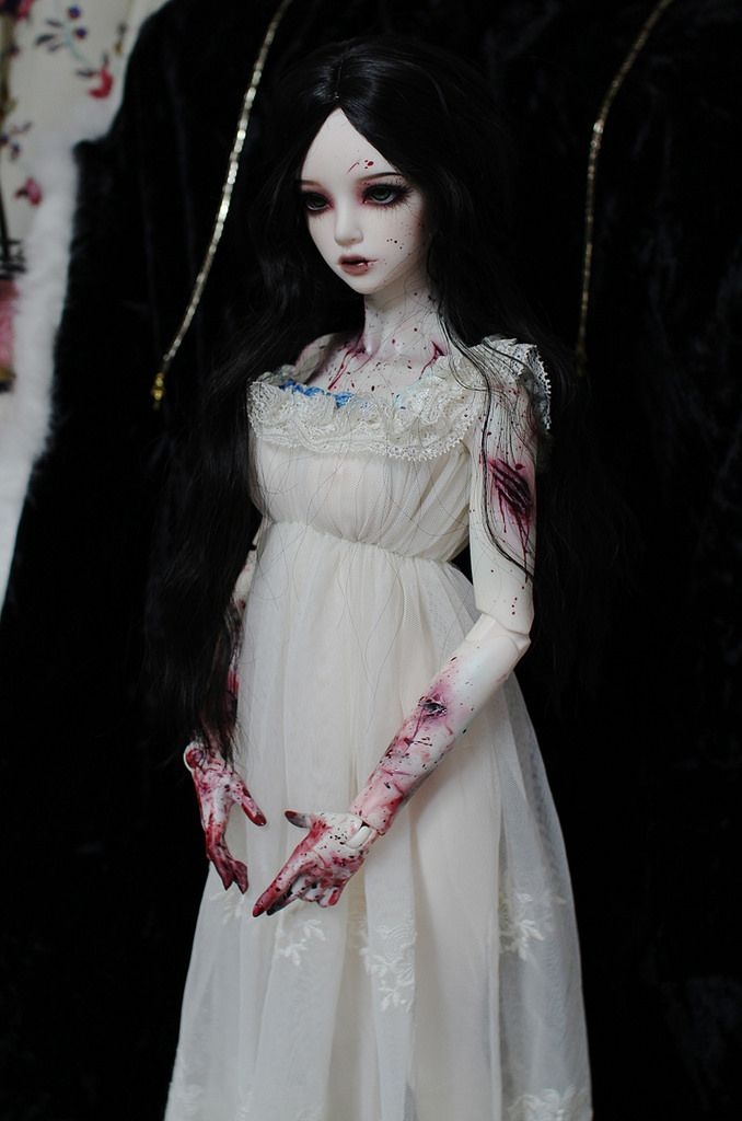 White Dollmore 1//3 BJD doll outfit SD 3 Swan Skirt