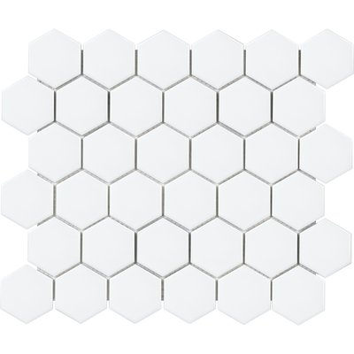 Sail 1 X 1 Porcelain Mosaic Tile In White Hexagon Wall Tiles